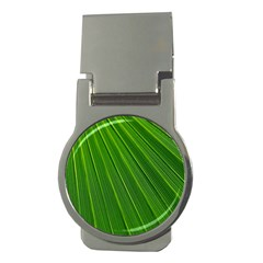 Green Lines Macro Pattern Money Clips (Round)