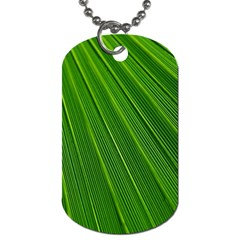 Green Lines Macro Pattern Dog Tag (two Sides)