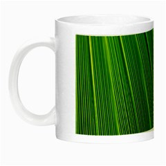Green Lines Macro Pattern Night Luminous Mugs