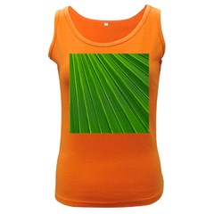 Green Lines Macro Pattern Women s Dark Tank Top