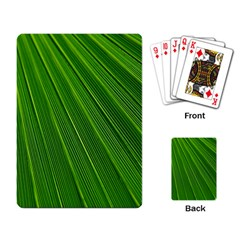 Green Lines Macro Pattern Playing Card