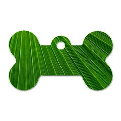 Green Lines Macro Pattern Dog Tag Bone (two Sides)