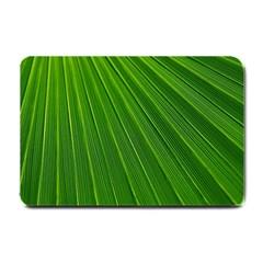 Green Lines Macro Pattern Small Doormat
