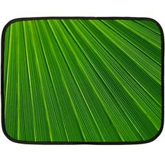 Green Lines Macro Pattern Fleece Blanket (Mini)