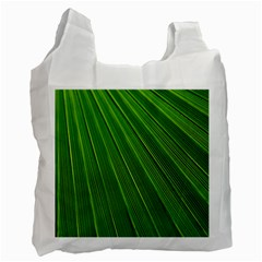Green Lines Macro Pattern Recycle Bag (one Side)