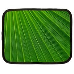 Green Lines Macro Pattern Netbook Case (xxl)