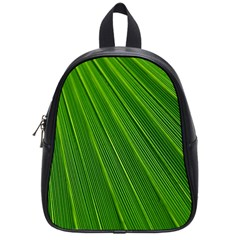 Green Lines Macro Pattern School Bags (small)