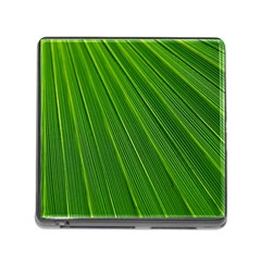 Green Lines Macro Pattern Memory Card Reader (square)