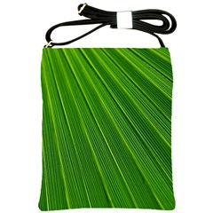 Green Lines Macro Pattern Shoulder Sling Bags