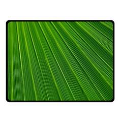 Green Lines Macro Pattern Fleece Blanket (small)
