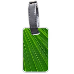Green Lines Macro Pattern Luggage Tags (one Side)