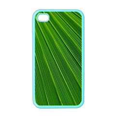 Green Lines Macro Pattern Apple Iphone 4 Case (color)