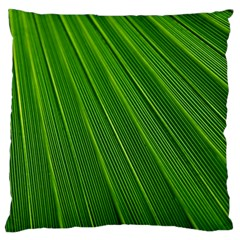 Green Lines Macro Pattern Large Cushion Case (one Side)