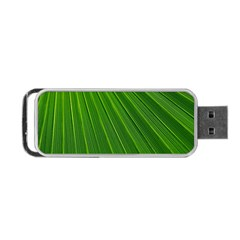 Green Lines Macro Pattern Portable Usb Flash (one Side)