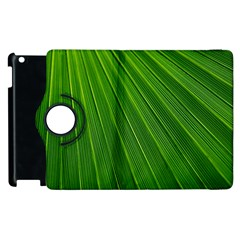 Green Lines Macro Pattern Apple iPad 3/4 Flip 360 Case