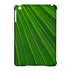 Green Lines Macro Pattern Apple Ipad Mini Hardshell Case (compatible With Smart Cover)