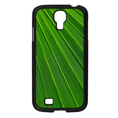 Green Lines Macro Pattern Samsung Galaxy S4 I9500/ I9505 Case (black)