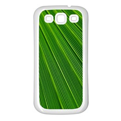 Green Lines Macro Pattern Samsung Galaxy S3 Back Case (white)