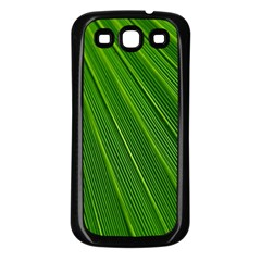 Green Lines Macro Pattern Samsung Galaxy S3 Back Case (black)