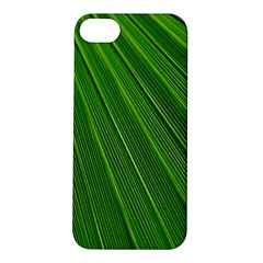 Green Lines Macro Pattern Apple iPhone 5S/ SE Hardshell Case