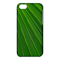 Green Lines Macro Pattern Apple Iphone 5c Hardshell Case