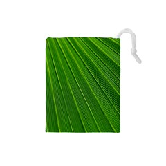 Green Lines Macro Pattern Drawstring Pouches (small)