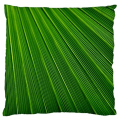 Green Lines Macro Pattern Large Flano Cushion Case (two Sides)