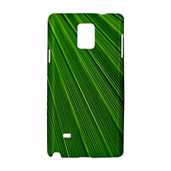 Green Lines Macro Pattern Samsung Galaxy Note 4 Hardshell Case