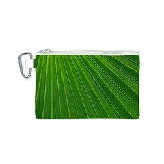 Green Lines Macro Pattern Canvas Cosmetic Bag (s)