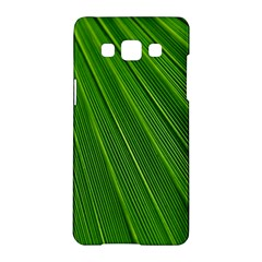 Green Lines Macro Pattern Samsung Galaxy A5 Hardshell Case