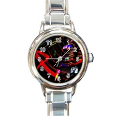 Night View Night Chaos Line City Round Italian Charm Watch