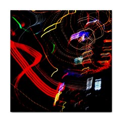 Night View Night Chaos Line City Tile Coasters