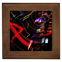 Night View Night Chaos Line City Framed Tiles