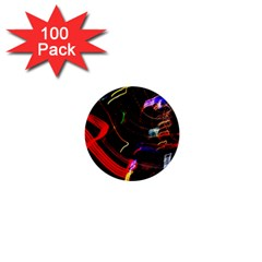 Night View Night Chaos Line City 1  Mini Buttons (100 Pack)