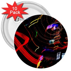 Night View Night Chaos Line City 3  Buttons (10 pack)