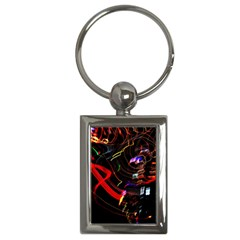 Night View Night Chaos Line City Key Chains (Rectangle)