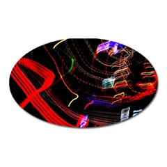 Night View Night Chaos Line City Oval Magnet