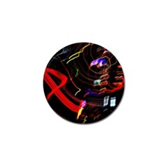 Night View Night Chaos Line City Golf Ball Marker