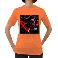 Night View Night Chaos Line City Women s Dark T Shirt