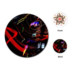 Night View Night Chaos Line City Playing Cards (round)