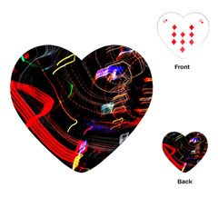 Night View Night Chaos Line City Playing Cards (heart)