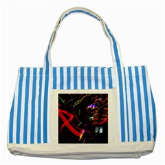 Night View Night Chaos Line City Striped Blue Tote Bag