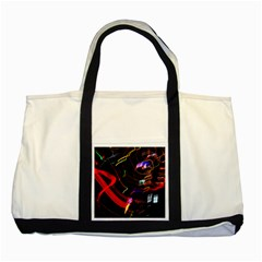 Night View Night Chaos Line City Two Tone Tote Bag