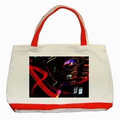 Night View Night Chaos Line City Classic Tote Bag (red)