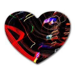 Night View Night Chaos Line City Heart Mousepads