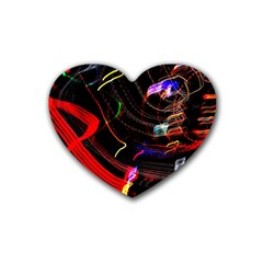 Night View Night Chaos Line City Rubber Coaster (heart)