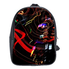 Night View Night Chaos Line City School Bags(large)