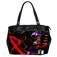Night View Night Chaos Line City Office Handbags (2 Sides)