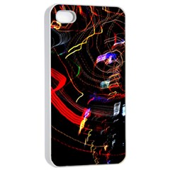 Night View Night Chaos Line City Apple Iphone 4/4s Seamless Case (white)