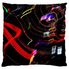 Night View Night Chaos Line City Large Cushion Case (two Sides)